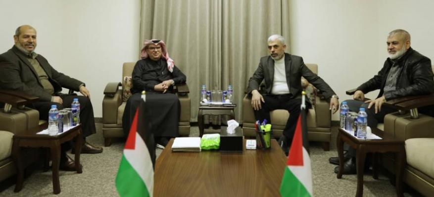 حماس: العمادي والسنوار اتفقا على جملة مشاريع تخدم قطاع غزة
