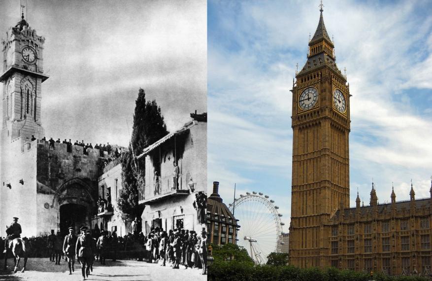 """قلب ساعة """"بيج بين"""".. حتى رمز بريطانيا مسروق من فلسطين!"""