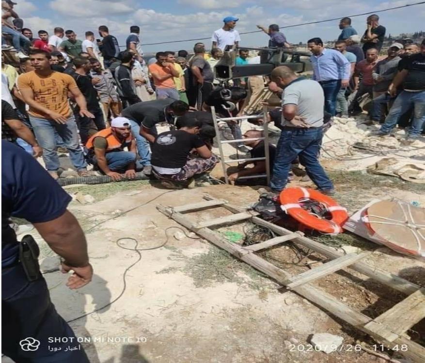 فاجعة بالخليل.. وفاة 6 مواطنين إثر سقوطهم في حفرة امتصاصية