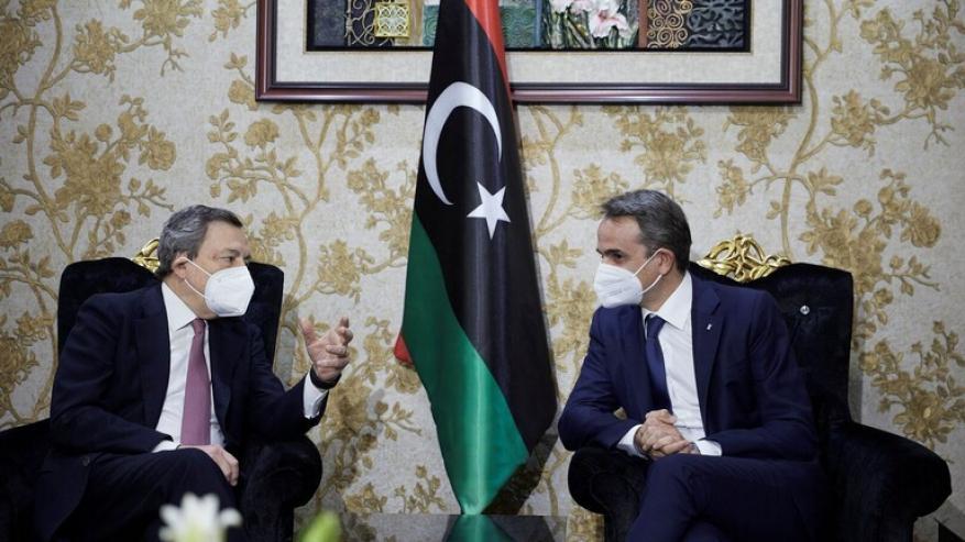 رئيسا وزراء اليونان وإيطاليا يبحثان في طرابلس الجهود لتسوية الأزمة الليبية