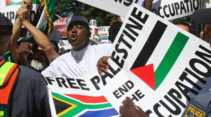 مظاهرة ضد سياسات الاحتلال بالذكرى الـ 71 للنكبة الفلسطينية في جنوب إفريقيا