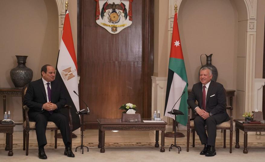 توافق أردني مصري على تحرك فعّال لاستئناف المفاوضات بين السلطة والاحتلال