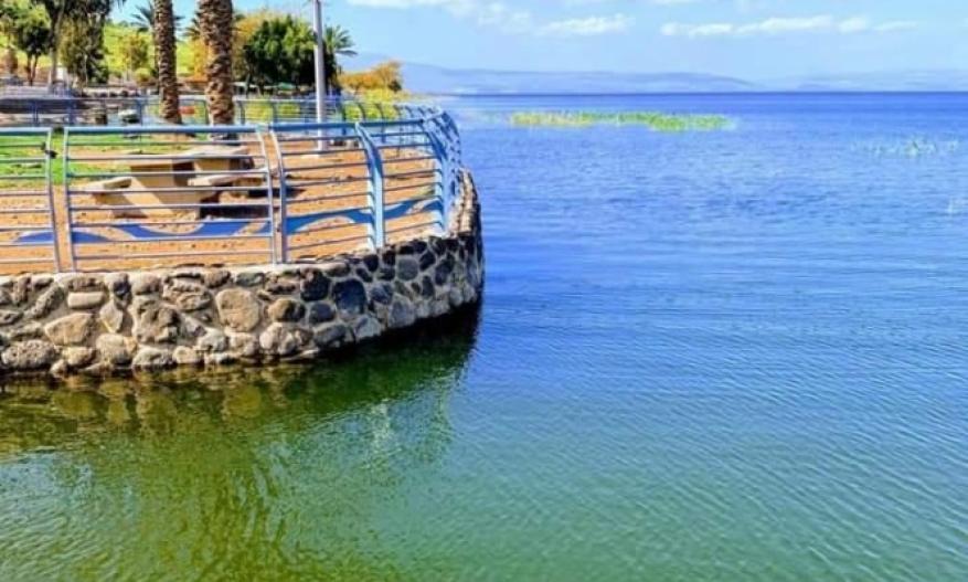 ارتفاع منسوب مياه بحيرة طبرية