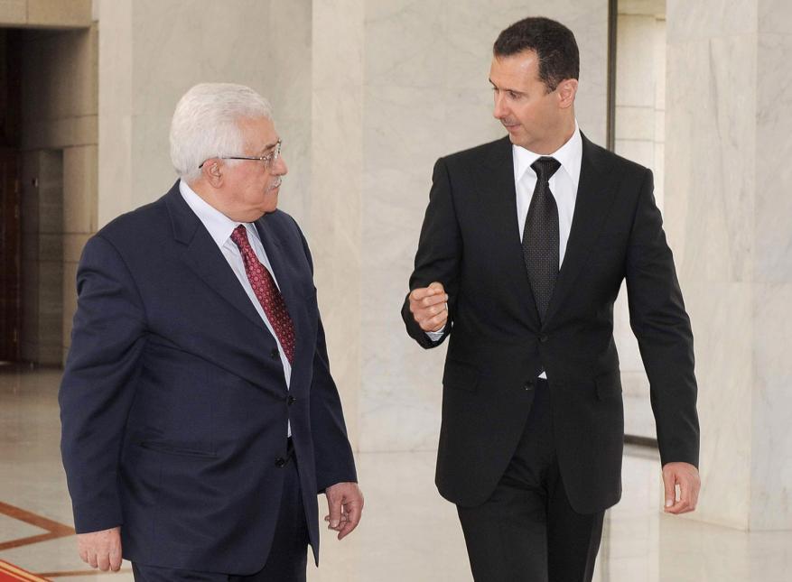 عباس يبعث برقية إلى بشار الأسد