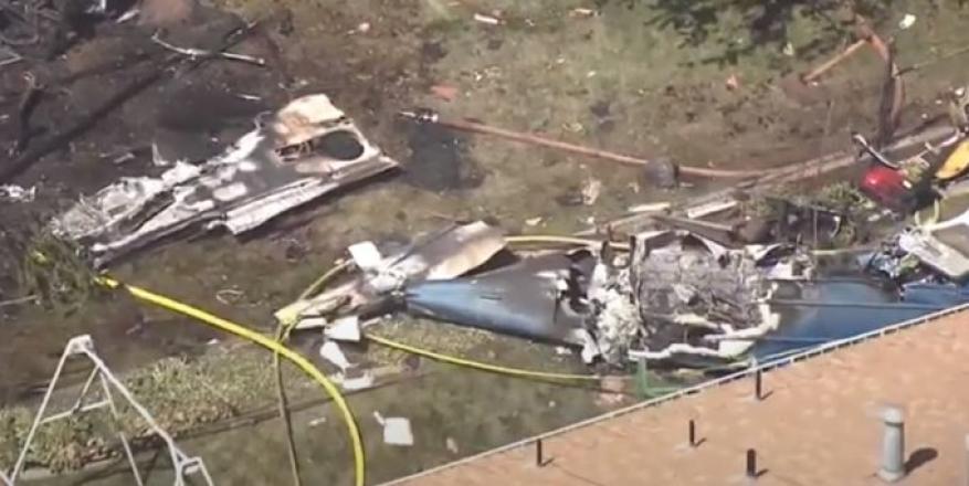 تحطم طائرة فوق منازل في ولاية يوتا الأمريكية