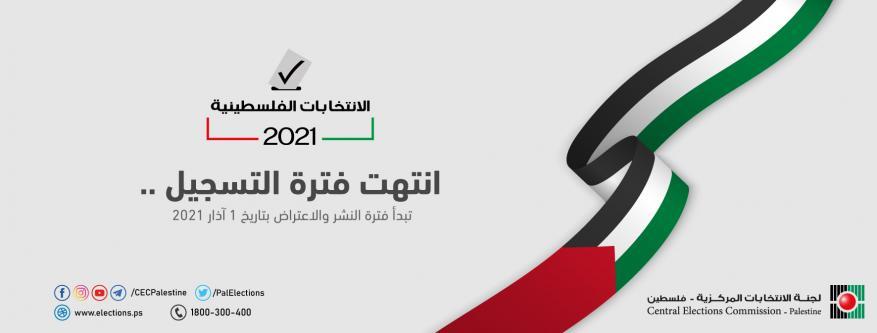 بعد إغلاق باب التسجيل.. نسبة المسجلين للانتخابات الفلسطينية 2021 بلغ 93.3%