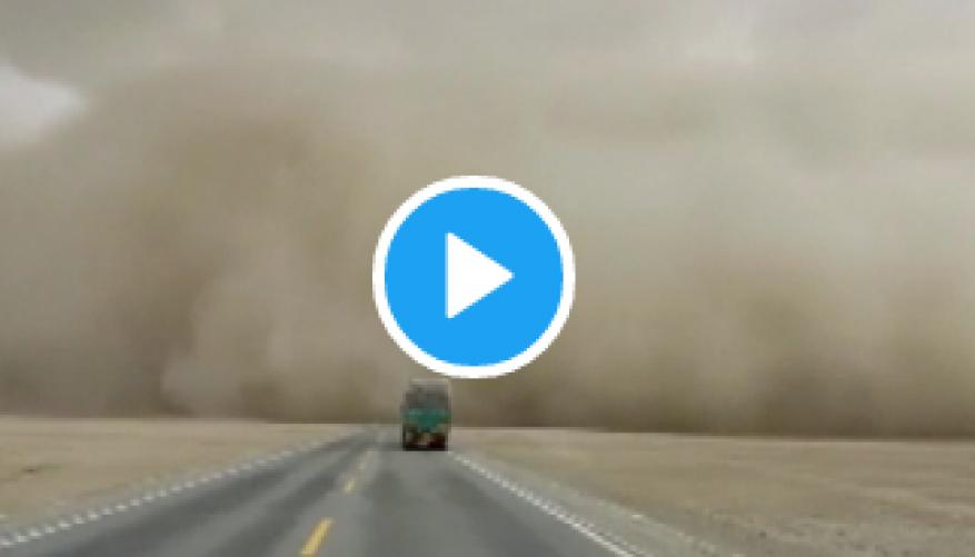 عاصفة رملية ضخمة تضرب مدينة شنغهاي الصينية