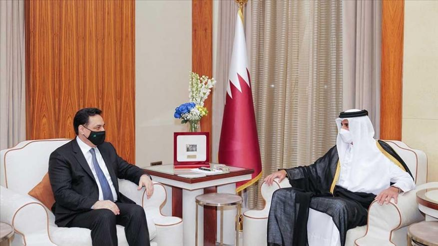 أمير قطر يؤكد دعمه للبنان ويدعو لتغليب المصلحة الوطنية