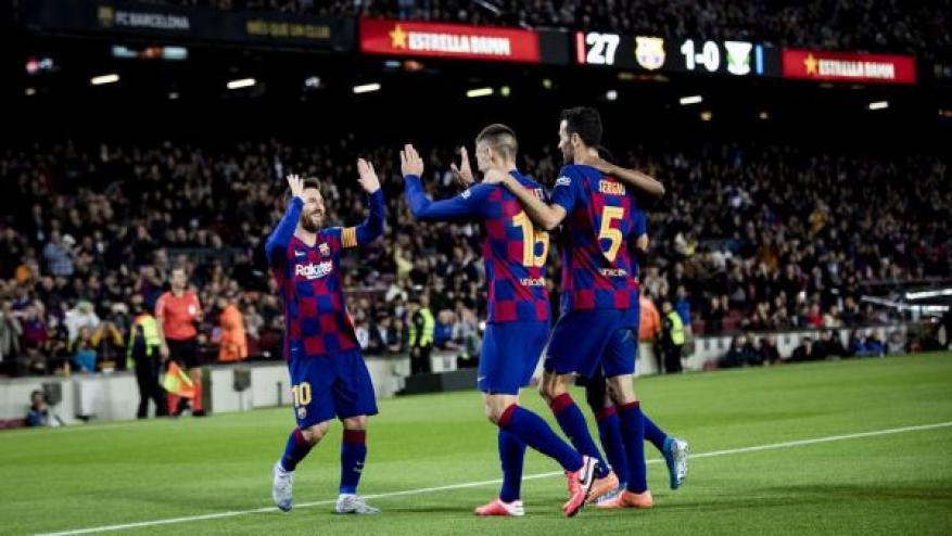 برشلونة يبلغ ربع نهائي كأس ملك إسبانيا
