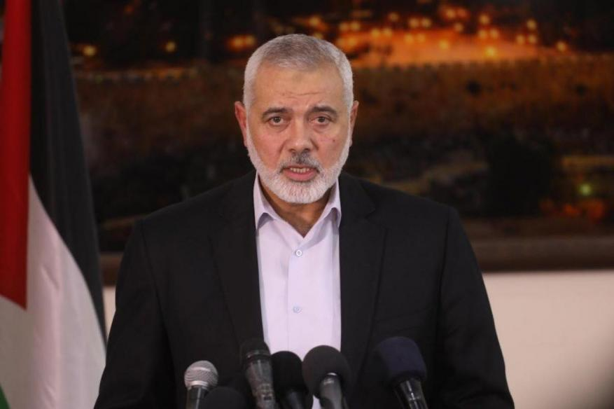 هنية يتلقى اتصالًا هاتفيًا من رئيس مجلس الشورى الإيراني