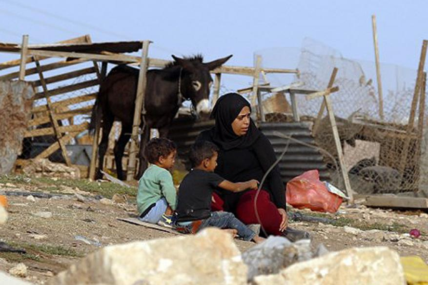 Israeli occupation army destroys protest huts built to oppose demolition of Khan al Ahmar