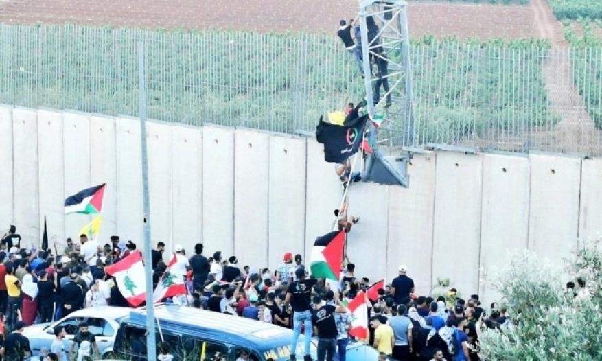 إصابة لبنانيين باستهداف جيش الاحتلال لمتظاهرين عند الحدود