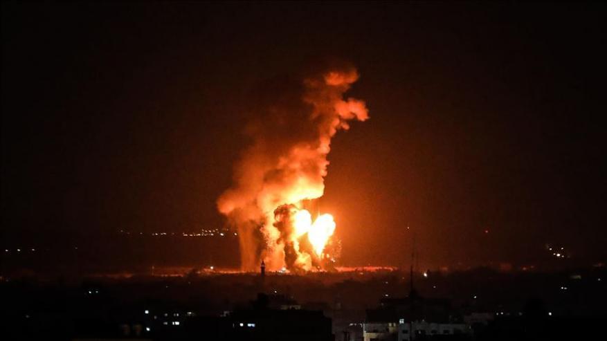 الاحتلال يستهدف عدة مواقع في قطاع غزة