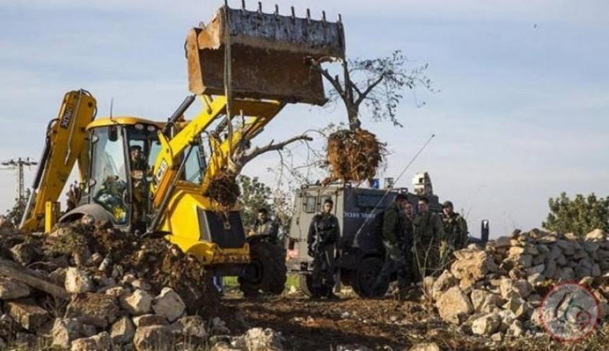 الاحتلال يجرف أراضي شمال غرب بيت لحم