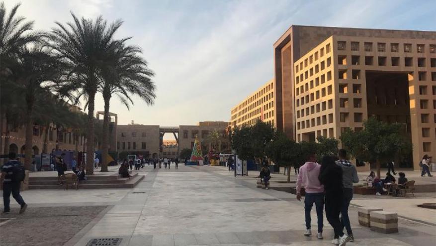 """طلاب الجامعة الأميركية بالقاهرة يهتفون ضد """"إسرائيل"""""""