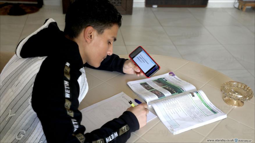 هكذا بدا التعليم الالكتروني بعد عامل كامل على استخدامه في فلسطين