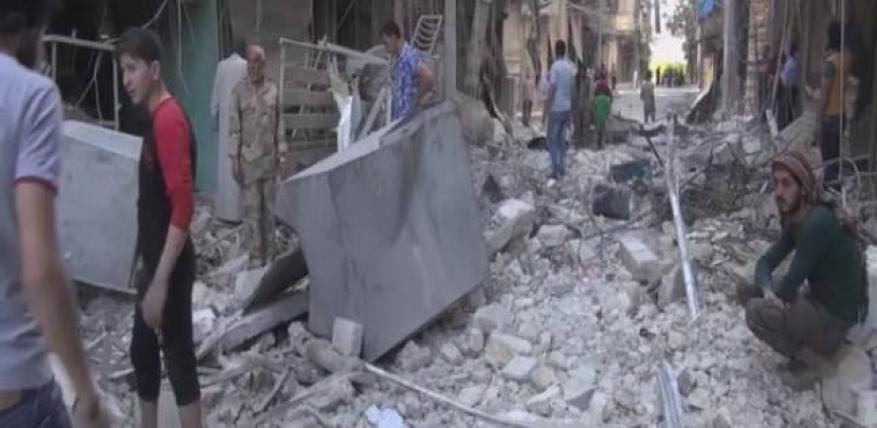 استشهاد 9 فلسطينيين بينهم 4 أطفال بقصف حلب