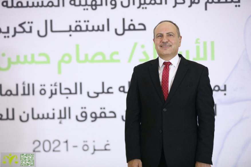 حقوقي من غزة يحصل على الجائزة الألمانية الفرنسية لحقوق الإنسان للعام 2020