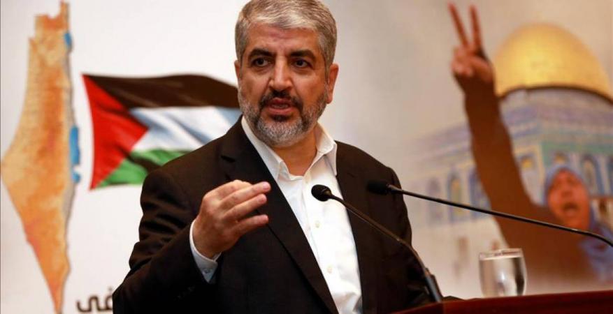 مشعل يهاتف الأسيرتين أبو سرور والتميمي ويعزي عوائل شهداء الشجاعية