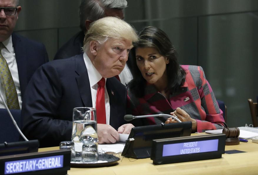 ترامب يقبل استقالة المندوبة الأمريكية لدى الأمم المتحدة نيكي هايلي