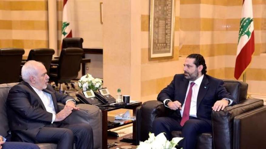 الحريري يبحث مع ظريف أوضاع المنطقة مع التركيز على النزوح السوري