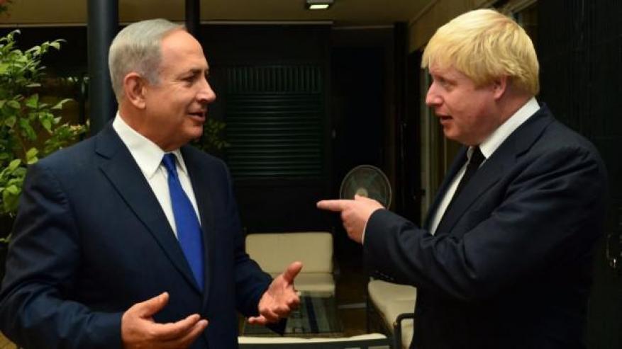 نتنياهو لجونسون: نتمسك بخطة ترامب كقاعدة للمفاوضات مع الفلسطينيين