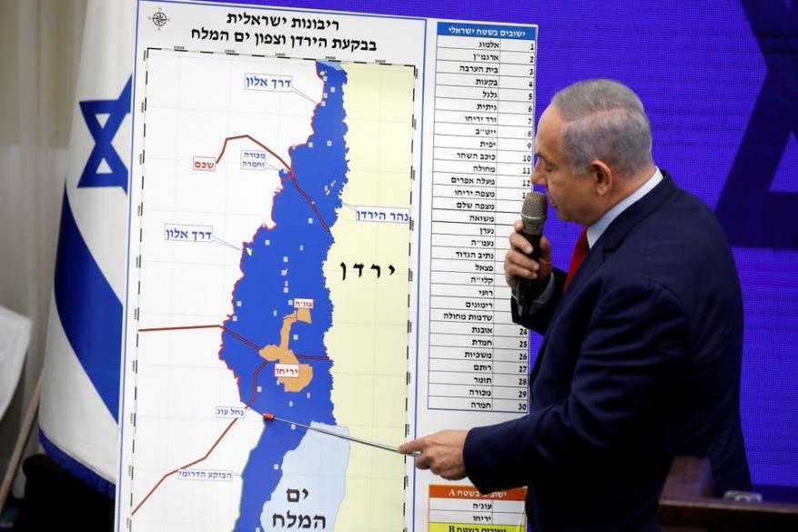 قناة عبرية تكشف خارطة الضم الإسرائيلية
