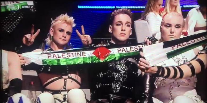 """""""يوروفيجن"""" تعاقب فريق أيسلندي رفع علم فلسطين بالمسابقة التي جرب في الكيان الإسرائيلي"""