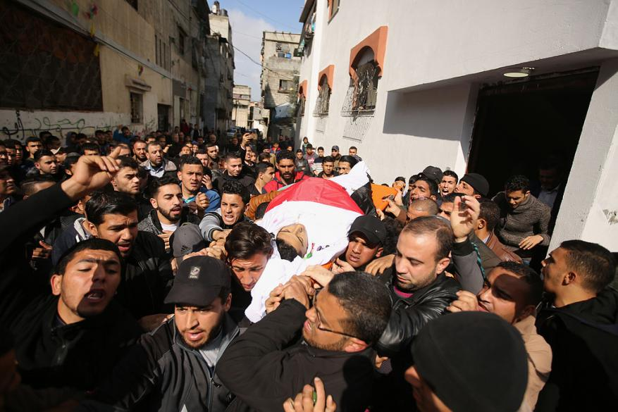 Thousands bid last farewell to 2 Gaza youths killed by Israel army