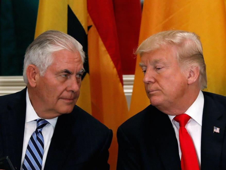ترامب يقيل تيلرسون من وزارة الخارجية