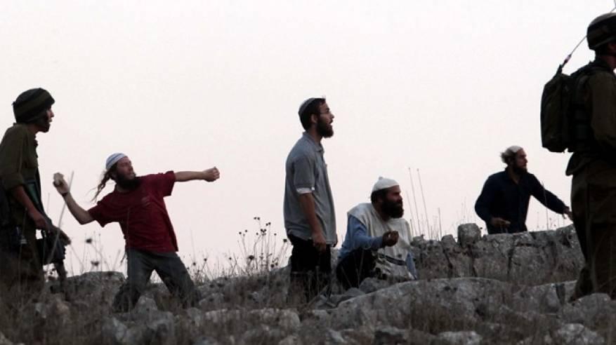 مستوطنون يعتدون على مزارع جنوب نابلس