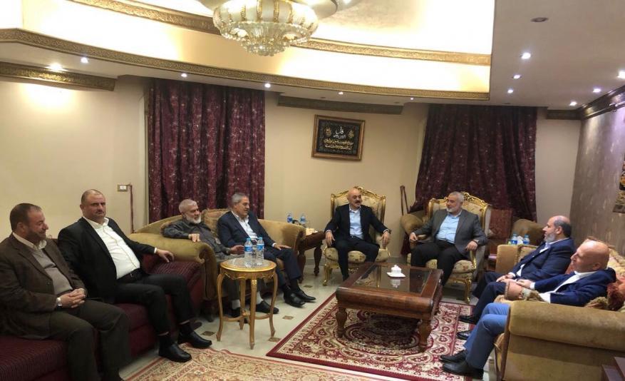 لقاء بين قيادة حماس و قيادة التيار الاصلاح الديمقراطي في حركة فتح