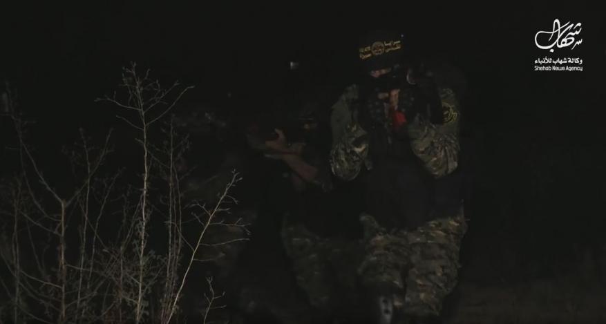 """""""شهاب"""" تشارك مقاتلين من سرايا القدس ليلة رباط رمضانية على تخوم قطاع غزة"""