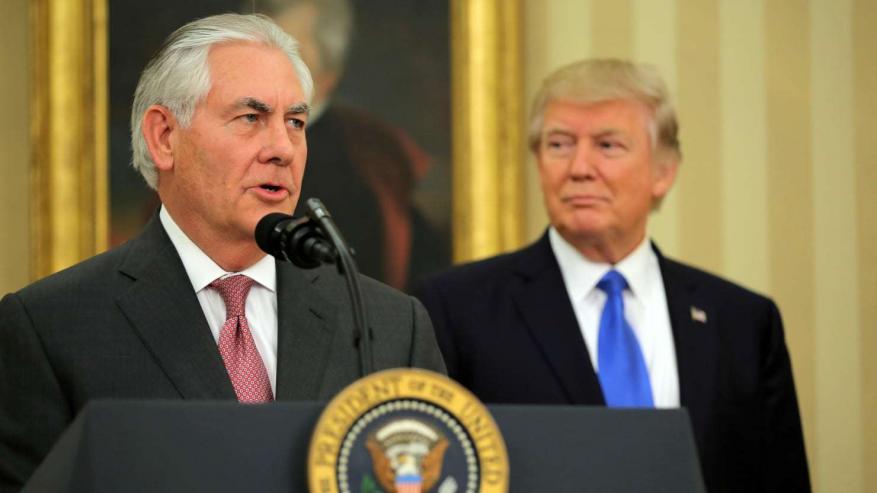 ترامب: لم أتفق مع تيلرسون في عدة قضايا منها الاتفاق النووي مع إيران