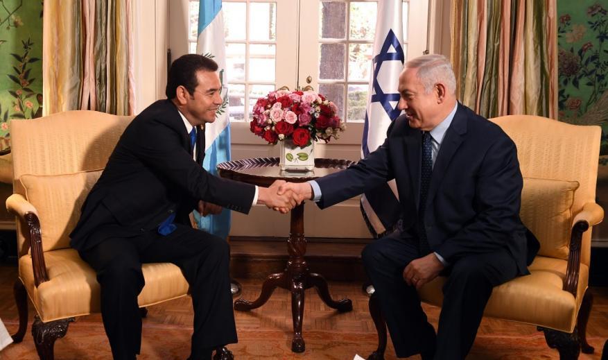 وصول رئيس غواتيمالا إلى الكيان لافتتاح سفارة بلاده في القدس