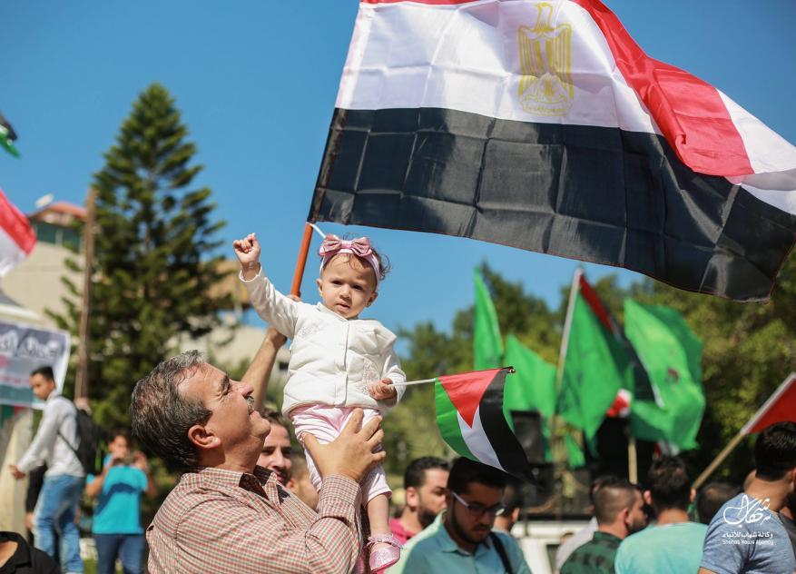 احتفالات تعم قطاع غزة ابتهاجاً بإعلان المصالحة بين حماس وفتح