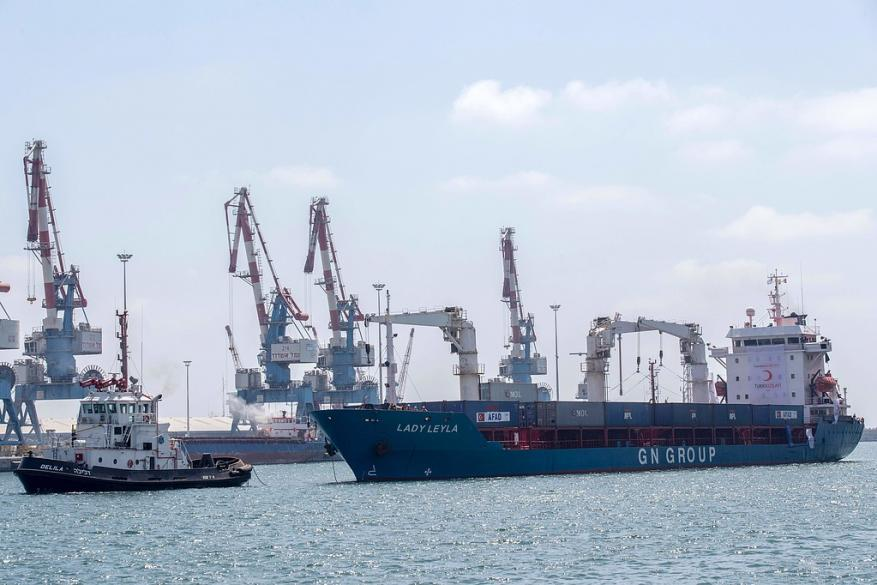سفينة تركية محملة بالمساعدات هدية