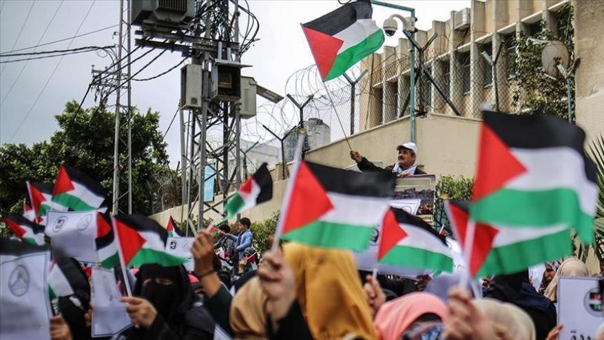UNRWA employees in Gaza Strip protest downsizing plans