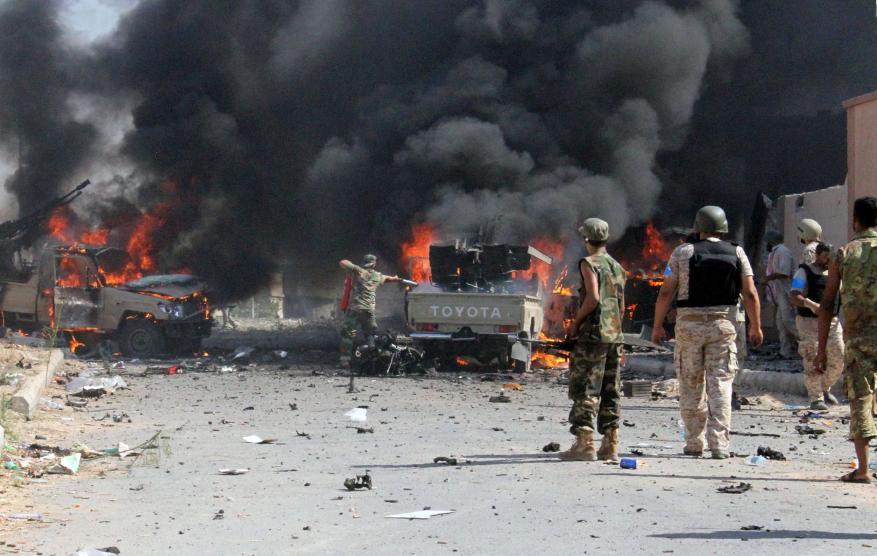 تفجير سيارة مفخخة في منشأة تابعة لقوات الحزام الأمني بعدن