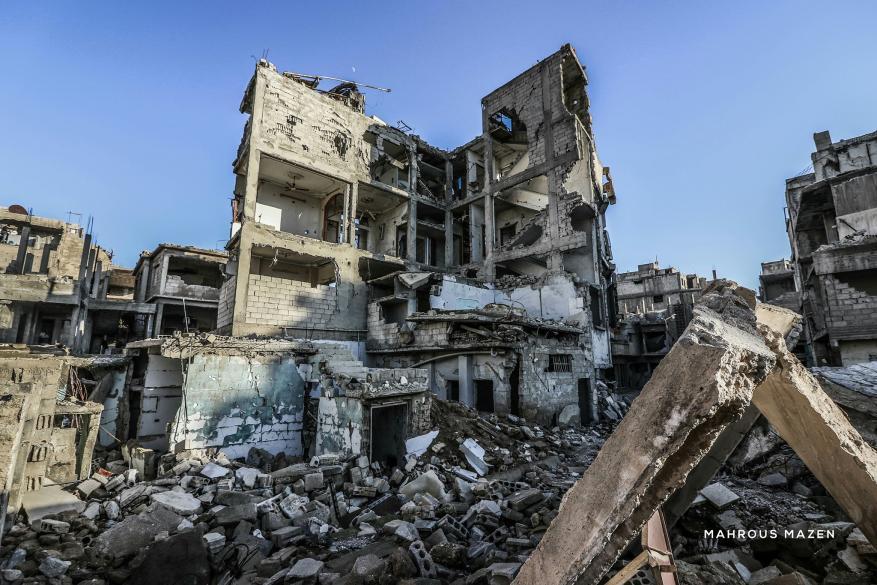 جولة مصورة تظهر الدمار في مدينة دوما عاصمة الغوطة بريف دمشق