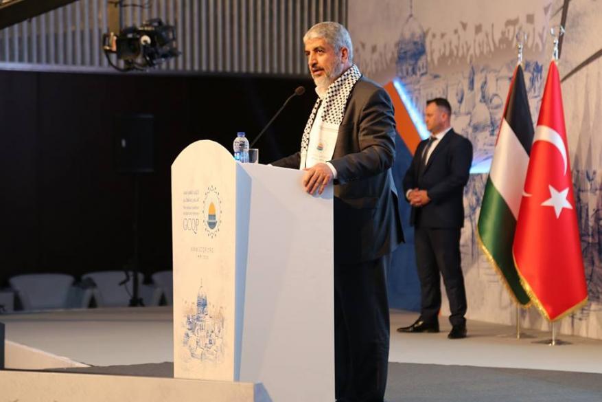 مشعل يدعو لوضع خطة عربية وإسلامية تجمع العقول لتحرير فلسطين