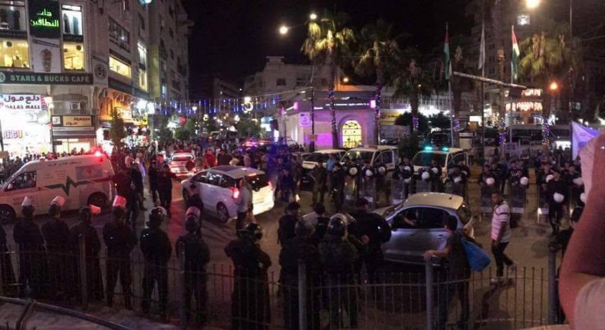 نقابة الصحفيين تستنكر اعتداء أجهزة السلطة على الصحفيين في رام الله