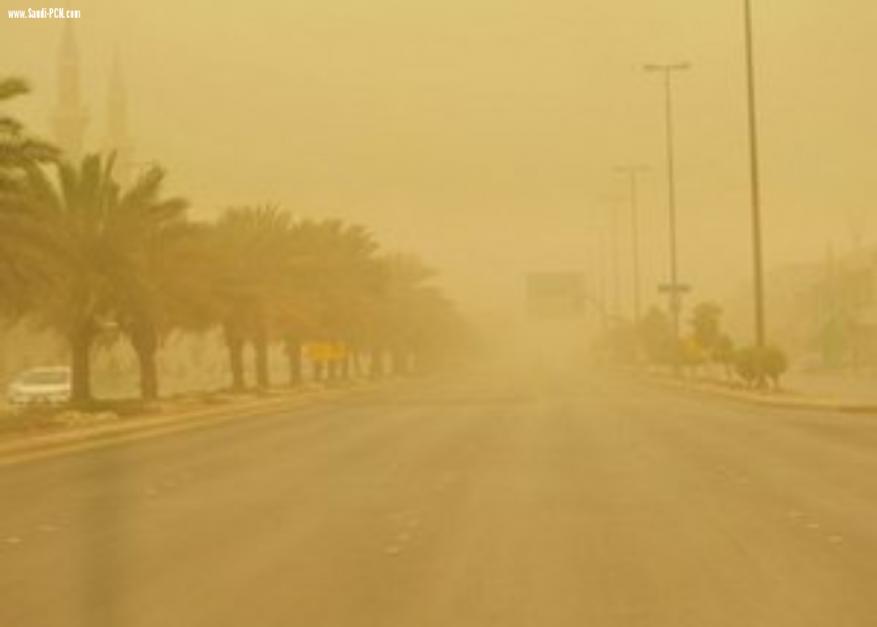 تلوث كبير جداً في الجو بالجليل والجولان بسبب هبوب عاصفة غبار غريبة