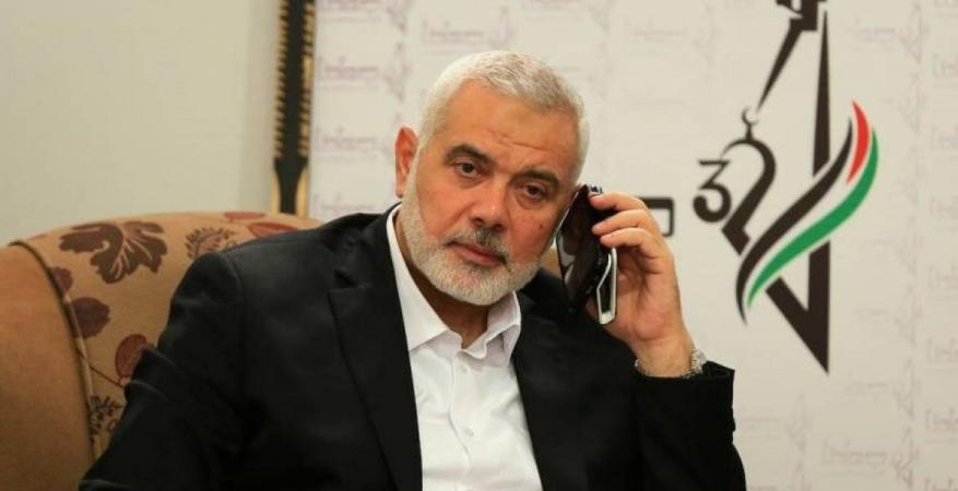 هنية يهاتف ميلادينوف ويبحث معه التطورات السياسية ومخاطر جريمة الضم