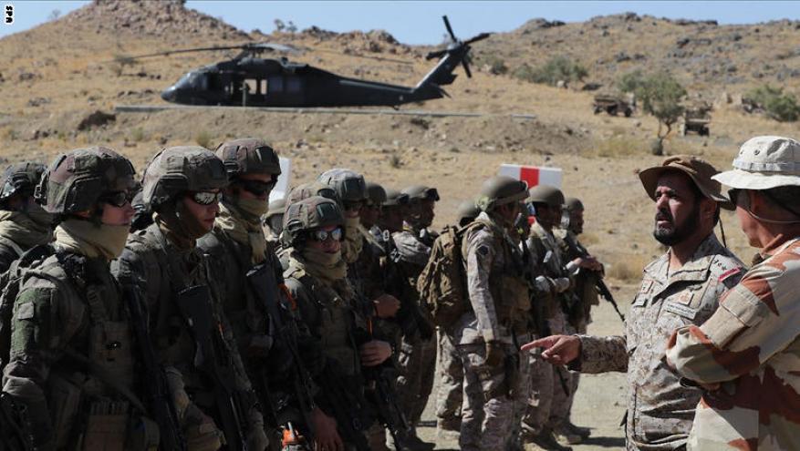 تدريبات عسكرية سعودية فرنسية مشتركة لتنفيذ العمليات الجبلية