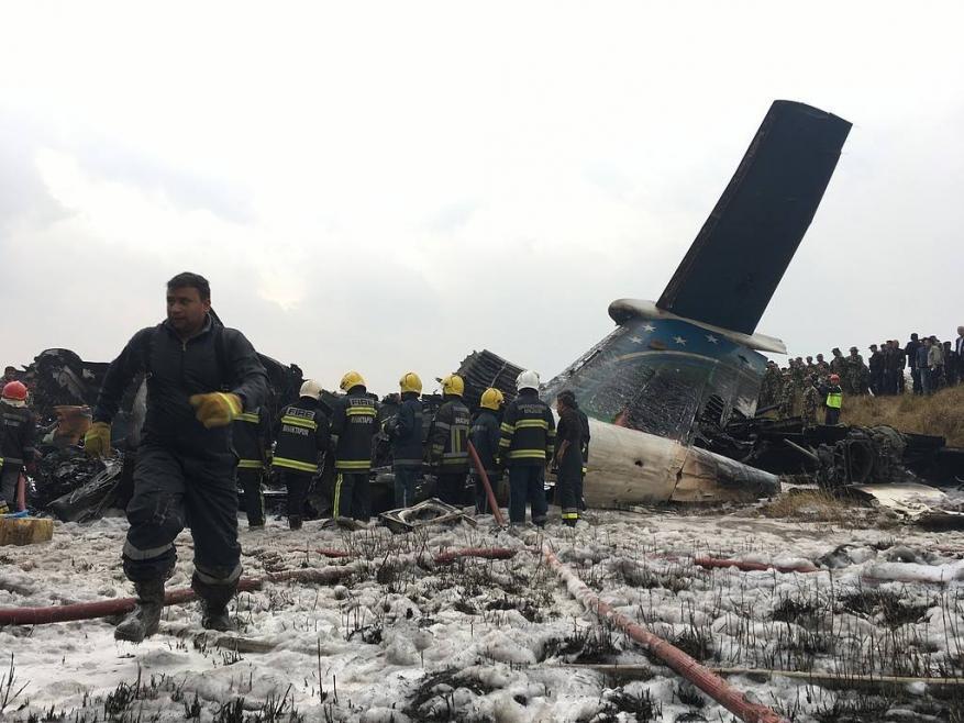 سقوط طائرة ركاب بنغالية في نيبال