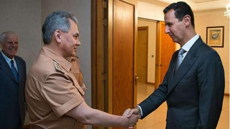 وزير الدفاع الروسي يلتقي الأسد في دمشق بتكليف من بوتين