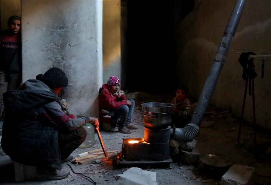 In Ghouta's shelters, terrified Syrians await the next bomb