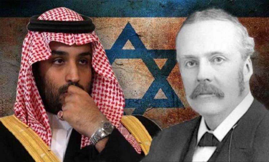 """بن سلمان ينطق بلسان بلفور.. هآرتس: الأمير السعودي يمنح """"إسرائيل"""" نفس وعد بلفور"""