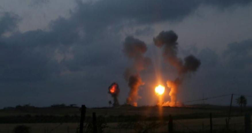 "Two Palestinians were killed in an ""Israeli"" raid in Gaza"